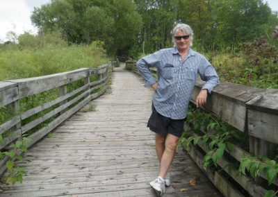 Preston Wynn ~ Oshawa Waterfront Trail ~ Bridge Lean